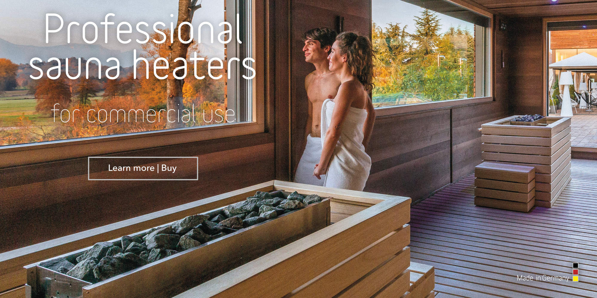 Professional sauna heaters for commercial use