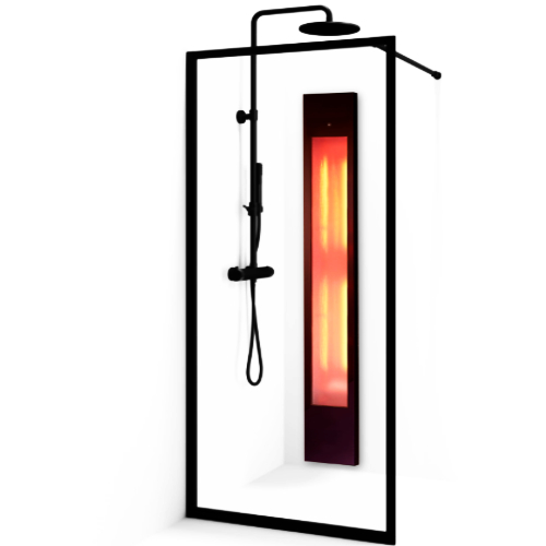 Infrared heaters shower