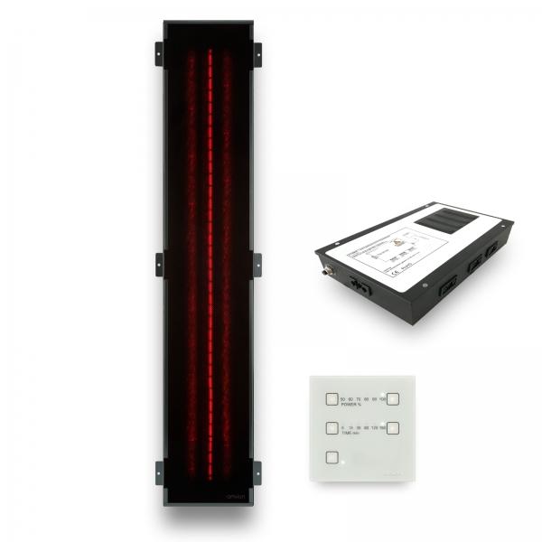 Infrarotstrahler-Set GKR-DT Glaskeramik RotLicht für Sauna