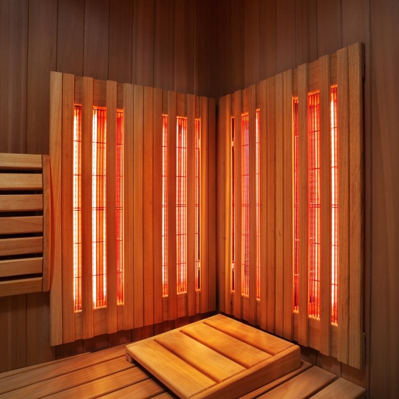 Infrared heater Fabric back RS Red Medium | SaunaHaus.COM