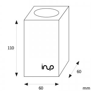 inup design Saunaleuchte LED, Thermo Esche 2er Set