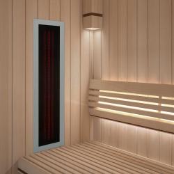Infrarotstrahler ROTLicht Sauna Rahmen Hellgrau