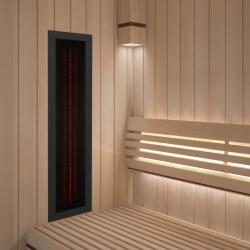 Infrarotstrahler ROTLicht Sauna Rahmen Schwarz