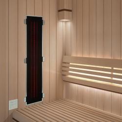 Infrarotstrahler-Set 2.GKR-DT3 Glaskeramik RotLicht für Sauna