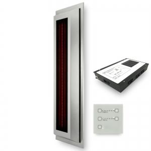 Infrarotstrahler-Set GKR-AP-DT Aufputz Glaskeramik RotLicht für Sauna