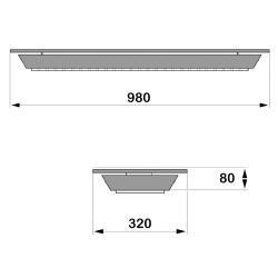 Infrarotstrahler-Set GKW-AP-DT1 Aufputz Glaskeramik WEISS für Sauna