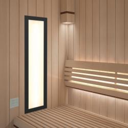Infrarotstrahler Sauna WeissLicht Frame Black Set-1