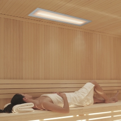 Infrarotstrahler WEISSLicht Sauna Rahmen Hellgrau