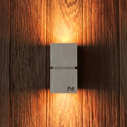 inup design Saunaleuchte LED, Erle 2er Set