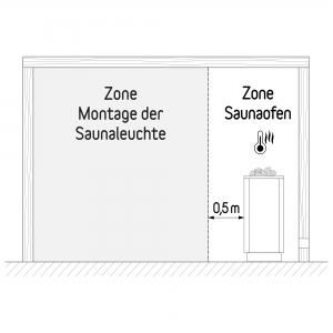 inup design Saunaleuchte LED, Erle 2er Set