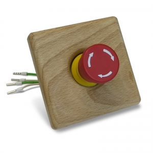 EOS emergency stop button with button plate