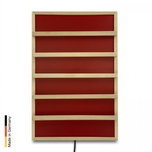 Infrared heater sauna Panel P2 Red backrest
