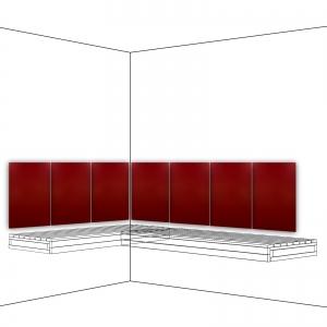 Infrarotstrahler Sauna Paneel P2 Rot Rückenlehne