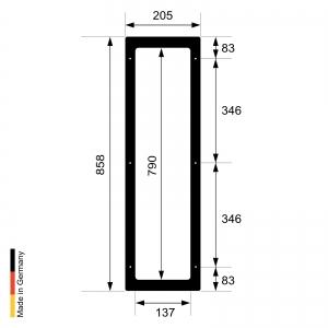 Infrarotstrahler Sauna RotLicht Frame Black Set-2